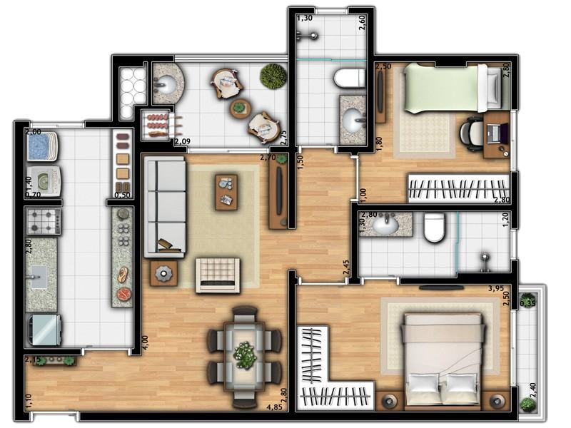 Apartamento Torre 1A
