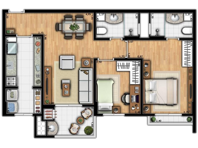 Apartamento Torre 1B