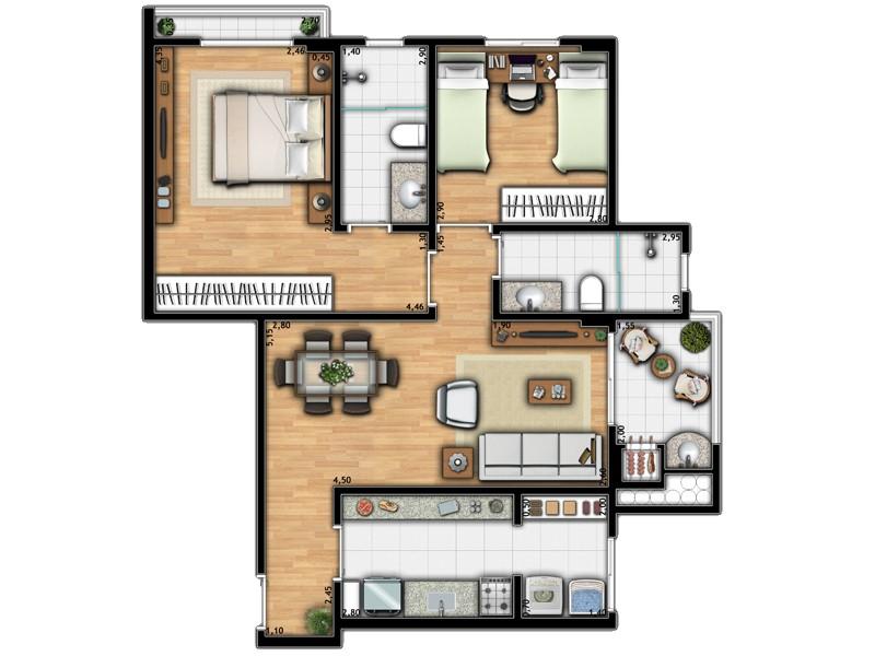 Apartamento Torre 2A